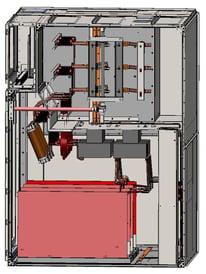AuCom MVE L-Series Medium Voltage Soft Starter Panel Drawing