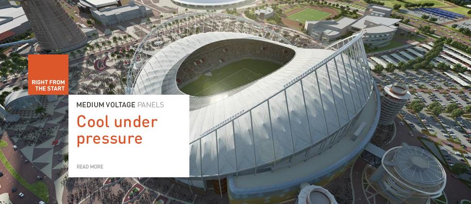 Khalifa Stadium Banner